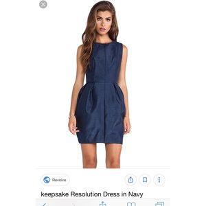 Beautiful Keepsake Dark Blue Bubble Dress